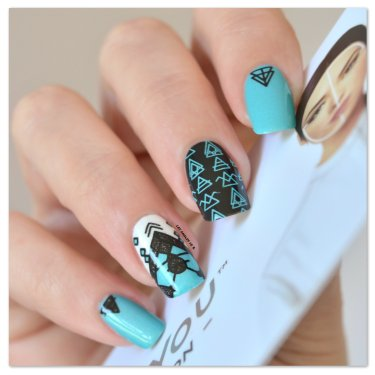 Stamping Master - Turquoise & Noir - Moyou London Minimal (4)