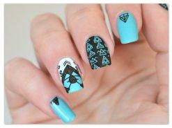 Stamping Master - Turquoise & Noir - Moyou London Minimal